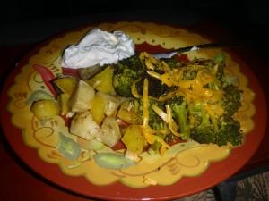 roastpotatoes and broccoli